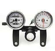 abordables -moto odomètre jauge tachymètre tachymètre avec support noir