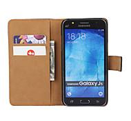 economico -telefono Custodia Per Samsung Galaxy Integrale Custodia in pelle Porta carte di credito J7 (2016) J7 J5 (2016) J5 J3 (2016) J3 A portafoglio Porta-carte di credito Con supporto Tinta unica pelle