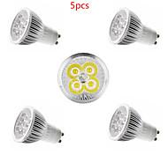 abordables -5pcs 4 W Spot LED 350 lm E14 GU10 GU5.3 4 Perles LED LED Haute Puissance Décorative Blanc Chaud Blanc Froid 85-265 V / 5 pièces / CE