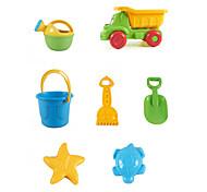abordables -Jouets de plage Ensemble de jouets de sable de plage Jouets aquatiques 7 pcs ABS 7 en 1 Pour Enfant Adulte