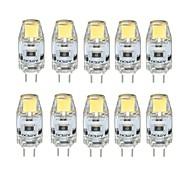 abordables -10 pièces 1 W LED à Double Broches 100 lm G4 T 1 Perles LED COB Intensité Réglable Blanc Chaud Blanc Froid 12 V