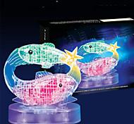 abordables -45 pcs Poissons Puzzles 3D Puzzles en bois Puzzles en Cristal Maquettes de Bois ABS Enfant Adulte Jouet Cadeau