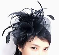 economico -Tulle / Pelle / A rete fascinators / Cappelli con Fantasia floreale 1pc Matrimonio / Occasioni speciali / Tè Copricapo
