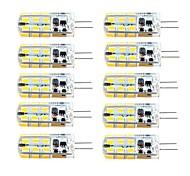 abordables -brelong 10 pièces g4 dimmable 2.5w 24led smd2835 maïs lumière blanc / blanc chaud / ac12v / dc12v / ac220v