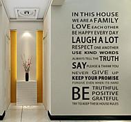 abordables -Personnages stickers muraux salon, vinyle amovible décoration de la maison sticker mural 60 * 115cm