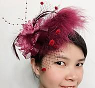economico -Pelle / A rete fascinators / Cappelli con Fantasia floreale 1pc Matrimonio / Occasioni speciali Copricapo