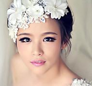abordables -Femme Bandeaux Chappeaux Bibi Pour Mariage Soirée Perle Plastique Alliage Blanche