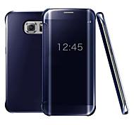 economico -telefono Custodia Per Samsung Galaxy Integrale Custodia flip S9 S9 Plus S8 Plus S8 Bordo S7 S7 S6 edge plus Bordo S6 S6 S10 Placcato A specchio Con chiusura magnetica Tinta unica Resistente PC