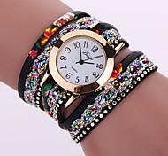 economico -Per donna Donne Orologio braccialetto avvolgere l'orologio Analogico Quarzo Fiore Orologio casual / Pelle / Un anno