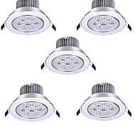 abordables -5 pièces 7 W Spot LED LED Ceilling Light Recessed Downlight 7 Perles LED LED Haute Puissance Décorative Blanc Chaud Blanc Froid 175-265 V
