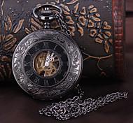 economico -Per uomo Orologio da tasca orologio meccanico Analogico Carica automatica Lusso Orologi con incisioni