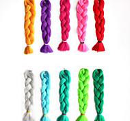abordables -Crochet Hair Braids Jumbo Box Braids Naturel Cheveux Synthétiques Rajouts de Tresses 1 Pièce