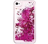 abordables -téléphone Coque Pour iPhone 5 Apple iPhone X Coque Arriere iPhone X iPhone 8 Plus iPhone 8 iPhone SE / 5s iPhone 5 Liquide Brillant Dur PC