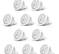 abordables -10 pièces 3 W Spot LED 250 lm MR16 3 Perles LED LED Haute Puissance Décorative Blanc Chaud Blanc Froid 12 V