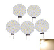 abordables -5 pièces 3 W Spot LED 400-480 lm G4 MR11 36 Perles LED SMD 3014 Décorative Blanc Chaud Blanc Froid 12 V