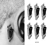 abordables -1 pcs Tatouages temporaires Imperméable Visage / mains / brachium PVC Tatouages Autocollants