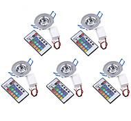 abordables -5pcs 3 W 200-250 lm 1 Perles LED LED Haute Puissance Commandée à Distance / Décorative RVB 85-265 V / 5 pièces / RoHs