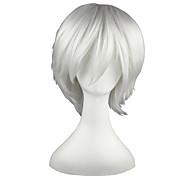 economico -Parrucche sintetiche Liscio Dritto Parrucca 13 cm Bianco Capelli sintetici Bianco
