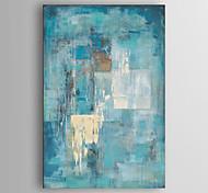 abordables -peinture à l'huile peinture à la main toile abstraite art minimaliste bleu turquoise art moderne avec cadre tendu