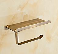 economico -porta carta igienica ottone opaco per bagno con ripiano porta cellulare 1pz