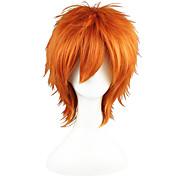 economico -Parrucche sintetiche Liscio Dritto Parrucca 13 cm Arancione Capelli sintetici Biondo