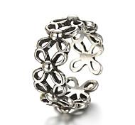 economico -Band Ring Argento Argento sterling Argento Fiore decorativo Donne Stravagante Originale Taglia unica / Anello regolabile