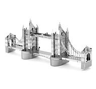abordables -Puzzles Puzzles 3D / Puzzles en Métal Building Blocks DIY Toys Métal Argenté Maquette & Jeu de Construction