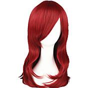economico -Parrucche sintetiche Liscio Dritto Parrucca 13 cm Rosso Capelli sintetici Rosso