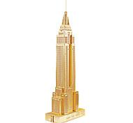 abordables -Bâtiment Célèbre Empire State Building Puzzles 3D Puzzles en bois Puzzles en Métal Kit de Maquette Maquettes de Bois A Faire Soi-Même Métal Enfant Adulte Jouet Cadeau