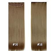 abordables -Cheveux Synthétiques Extension des cheveux Droit Classique A Clipser Quotidien Haute qualité