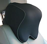 abordables -Appuie-tete de voiture noir en coton fonctionnel commun pour universel tous les matires en coton appui-tte de siege auto