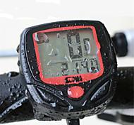 abordables -Compteur de Vélo Etanche Lampe LED Sans fil Vision nocturne Odo - Odomètre Pour Vélo de Route Vélo tout terrain / VTT Vélo pliant Cyclisme Synthétique Rouge 1 pcs