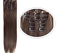 abordables -Pièce de cheveux Droit Classique Cheveux Synthétiques Extension des cheveux A Clipser Quotidien
