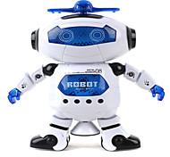 abordables -Robot Eclairage LED Rotation 360° Mignon En chantant Danse Marche Multi Fonction Musique avec Écran Adulte Garçon Fille 1 pcs Jouet Cadeau