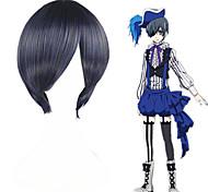 abordables -Black Butler Ciel Phantomhive Perruques de Cosplay Homme Femme 12 pouce Fibre résistante à la chaleur Perruque Anime