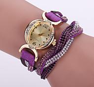 economico -Per donna Orologio braccialetto Orologio da polso Analogico Quarzo Donne imitazione diamante / / Pelle / Un anno