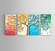 abordables -Peinture à l'huile Hang-peint Peint à la main Verticale Abstrait Paysage Nature morte Moderne Avec Cadre / Quatre Panneaux