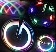 economico -LED Luci bici Luci per tappo della valvola luci della rotella Ciclismo da montagna Bicicletta Ciclismo Impermeabile Modalità multiple Luce LED Batteria Ciclismo