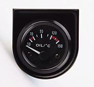 """abordables -2 """"de 52mm température de l'huile de pointeur de voiture universel de jauge de température 40-120 led blanche"""