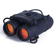 economico -30 X 60 mm Binocolo Alta definizione Portatile Grandangolo BaK4 Campeggio e hiking Caccia Scalate Visione notturna Plastica