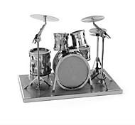 abordables -1 pcs Instruments de Musique Batterie Jazz Drum Puzzles 3D Kit de construction de modèles Métallique Jouet Cadeau