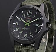 economico -Per uomo Orologio militare orologio da campo Analogico Quarzo Casuale Calendario / Un anno / Acciaio inossidabile