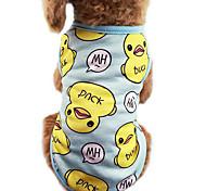 economico -Gatto Cane T-shirt Vestiti del cucciolo Cartoni animati Di tendenza Abbigliamento per cani Vestiti del cucciolo Abiti per cani Blu Rosa Costume per ragazza e ragazzo cane Cotone XS S M L XL XXL