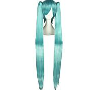 abordables -Perruques de Cosplay Vocaloid Mikuo Bleu Extra Long / Droite Anime Perruques de Cosplay 120 CM Fibre résistante à la chaleurMasculin /