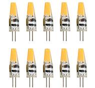 economico -10 pezzi 2 W Luci LED Bi-pin 200-250 lm G4 T 1 Perline LED COB Decorativo Bianco caldo Luce fredda 12 V