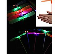 economico -libellula di bambù reattiva flash shine mano spinge piccoli giocattoli luminosi giocattoli per regali per bambini giocattoli notturni all'aperto