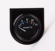"""abordables -2 """"52mm 12 v universel voiture pointeur température de l'eau jauge de température 40-120 pointeur temp mètre jauge mesure avec rétro-éclairage led blanc"""