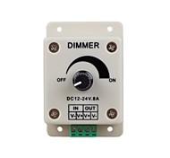 abordables -zdm 1pc dc12-24v 8amp 0% -100% contrôleur de gradation monochrome pour les lumières menées ou le ruban