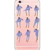 abordables -téléphone Coque Pour Apple Coque Arriere iPhone 6s Plus iPhone 6s iPhone 6 Plus iPhone 6 iPhone SE / 5s iPhone 5 Ultrafine Translucide Bande dessinée Flexible TPU