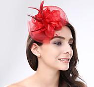 economico -Pelle / A rete fascinators / Cappelli con Fantasia floreale 1pc Matrimonio / Occasioni speciali / Tè Copricapo